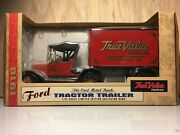 Ertl Ford 1918 Tractor Trailer 125 Scale True Value Hardware Bank Diecast Metal