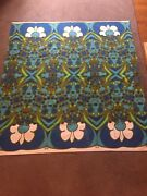 Rare Vintage Peter Max Table Cloth Excellent Condition 1960andrsquos 50 X 50 Inches