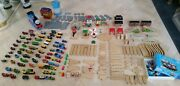 Over 150pc Lot Thomas And Friends Wooden Train Tracks Carry Case Tower Tunnel Brio