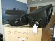Nos Harley Davidson Oem Softail Leather Bag Kit 1984 And Later 90130-00c