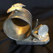 Antique Silverplate Figural Simpson Hall And Miller Aesthetic Oriental Napkin Ring