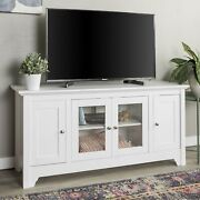 We Furniture Transitional Wood Stand With Storage Cabinets For Tvand039s Up To 56...