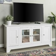 We Furniture Transitional Wood Stand With Storage Cabinets For Tv's Up To 56...