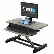 Workfit-z Mini Sit-stand Desk - For Tabletops - 31 Inches Grey Woodgrain
