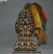 Tibet Tantric Buddhism Bronze Inlay Turquoise Symbol Dynasty Statue Seal Signet