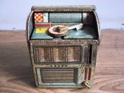 Rare Vintage Wind Up Musical Cabinet Phonograph Tin Toy Of 50's Made In Japan.