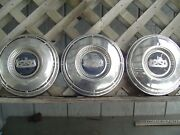 3 Vintage Ford Falcon Ranchero Fairlane 9 1/2 In. Hubcaps Wheelcovers Center Cap