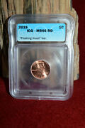 2019 P Lincoln Cent Mint Error Certified Icg Ms66rd Floating Head Var. Coin 1c