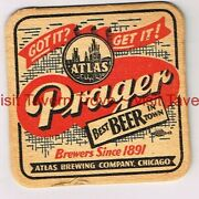 1940s Best Beer In Town Illinois Chicago Atlas Prager Beer 3andfrac12 Tavern Trove