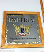 Imperial Whiskey Beer Sign Mirror Hiram Walker Canada Bar Mirrors Signs 1 Kh9