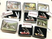 Vintage Case Pa. State Le Game Commission Upland Game Bird Commemorative Knives