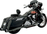 Bassani +p Stepped True Duals B1 Exhaust System Black With Black End Caps 1f56rb