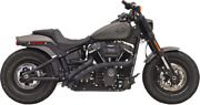 Bassani Radial Sweepers Exhaust Black W/black Slotted Heat Shields 1s22fb
