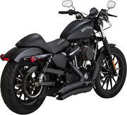 Vance And Hines Big Radius 22 Exhaust System Blk 14-up Harley Sportster Xl 46067
