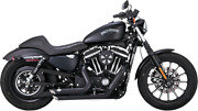 Vance And Hines Shortshots Staggered Black Exhaust 14-20 Harley Sportster Xl 47229