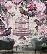 3d Bird Cage Flowers O38 Wallpaper Wall Mural Self-adhesive Andrea Haase Sunday