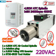 Cnc 4.5kw Bt30 Atc Spindle 220v Automatic Tool Change( Air Cooling)+vfd Inverter