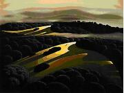 Eyvind Earl  Of The Hills And Valleys  Serigraph On Paper