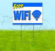 Free Wifi 18x24 Yard Sign With Stake Corrugated Bandit Usa Business Service