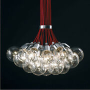 Red Idle Max Sea Urchins Glass Pendant Lamp Chandelier Ceiling19 Lights Gift