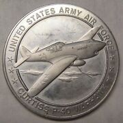 United States Army Air Force Curtiss P-40 Warhawk Medal Take A Look
