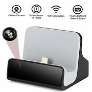 Hidden Camera Charger Dock For Iphone Wifi Live View Spy Cam With Motion Detecti