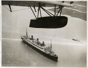 C.1920and039s Press Photo Canada - The Empress Of Australia Ocean Liner Flying Boat