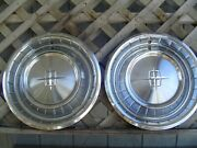 1961 Lincoln Mark Continental 2 Hubcaps Wheel Covers Center Caps Vintage