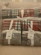 Pottery Barn Pearson Plaid Patchwork King Quilt With 2 Standard Shams Sold Out