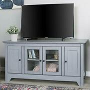 We Furniture Transitional Wood Stand With Storage Cabinets For Tv`s Up To 56...