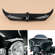 Glossy Black Bat Brow Batwing Fairing Accent For Harley Cvo Ultra Classic Flhtc