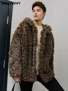 2019 Autumn And Winter New Fox Fur Grass Jacket Male Hooded Leather Coat Top Hot