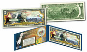 Hawaii Licensed Colorized 2 Bill Honoring America's 50 States Coa And Folio