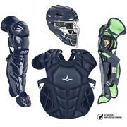 All Star System7 Axis Nocsae Certified Youth Solid Pro Baseball Catcherand039s Kit -