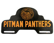 Pitman Panthers License Plate Topper High School Nj Vtg Sign Football Auto Metal