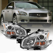 For 09-13 Nissan Maxima Halogen Model L+r Projector Headlight Replacement Lamp