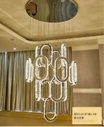 Remote Dimmable Led Crystal Light Living Room Chandelier Staircase Ceiling Lamps