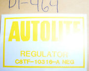 Ford Cars Trucks Mustang Voltage Regulator Decal 464 3.95 Includes Ship
