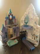 Dinsey Frozen Castle Barbie Size Anna Elsa 2 In One Ice Palace And Castle Complete