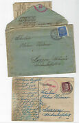 Judaica Jewish Postcard And Letter From Germany To Switzerland Censors 1942-3