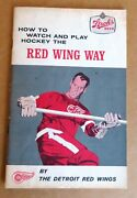 Detroit Red Wings Howe To Watch And Play Hockey The Red Wing Way - Strohs Beer