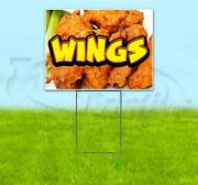 Wings 18x24 Yard Sign With Stake Corrugated Bandit Usa Business Food