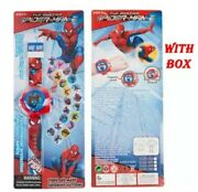 Uk Seller Brand New In Box Kids/boys Marvel Spiderman Projector Watch 20 Images