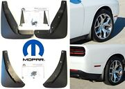 Oem Mopar Front And Rear Mud Flaps For 2015-2020 Dodge Challenger New Free Ship