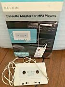 Belkin Cassette Tape 3.5mm Jack Adapter For Ipod Mp3 Players Cd Players Laptops
