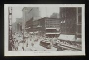 1900s State Street Taken At Noon Trolleys Antique Cars Wagons Stores Chicago Il