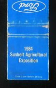 1984 Ford Tractors Sunbelt Agricultural Exposition Spence Field Moultrie Ga Mb