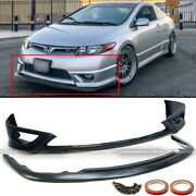 Fit 06-08 Civic 2dr Coupe Hf-p Style Upper And Lower Unpainted Front Bumper Lip