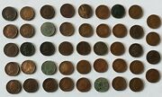 44 Coins Very Nice Quality Mixed 1860-1908 Indian Head Cent Penny Lot See Dates