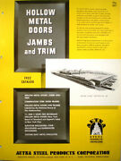 Aetna Steel Products Corporation Door Catalog Asbestos Insulation 1950and039s
